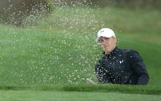 Spieth contending as rain halts play at Pebble Beach