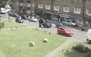 Young girl jumps from stolen car