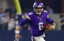 Vikings quarterback severed tendon putting foot through window