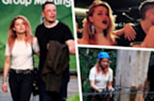 Amber Heard and Elon Musk Go Ziplining