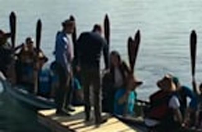 The Duke and Duchess of Cambridge canoe in Canada