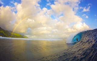 Image of the day: I can surf a rainbow....