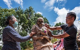 Pictures: Real life 'day of the dead' festival in Indonesia
