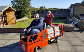 Uncle converts mobility scooter into truck for his nephew