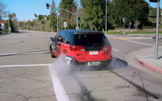Video: Mum drifts 550bhp people carrier in Gymkhana spoof
