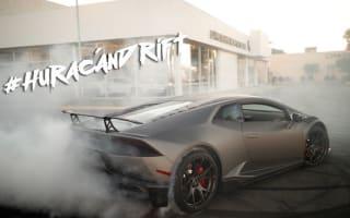 Husband-and-wife drift a Lamborghini around their local dealership