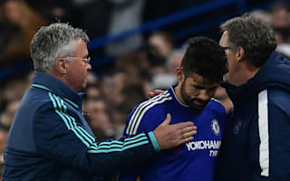 Hiddink rues Costa injury after Chelsea's Euro exit