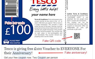 Beware of these fake supermarket vouchers