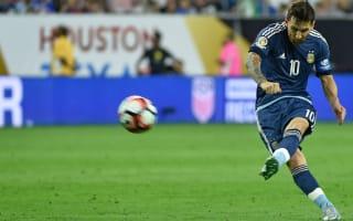 Lionel Messi picks corner on free kick to break Argentina's all-time goal record
