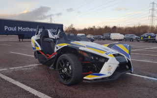 Police-liveried Polaris Slingshot to promote road safety
