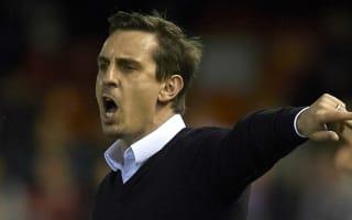 Valencia 2 Espanyol 1: Neville finally tastes victory in La Liga
