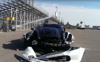 Video shows huge Corvette crash in Arizona drag race