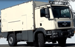 Monster camper vans are equipped to survive an apocalypse