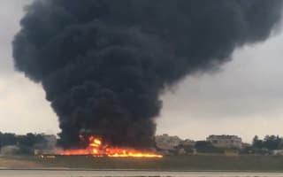 Five dead as plane crashes in 'massive explosion' at Malta airport