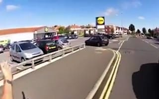 Enraged cyclist accuses woman of driving dangerously