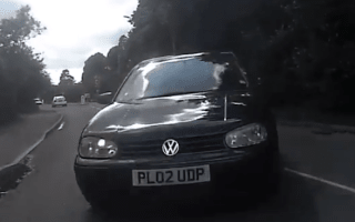 Watch a road accident from the cyclist's point of view
