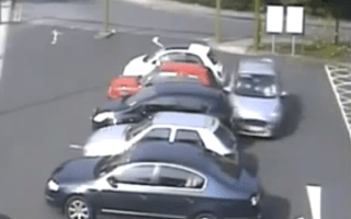 Parking attempt ends in carnage