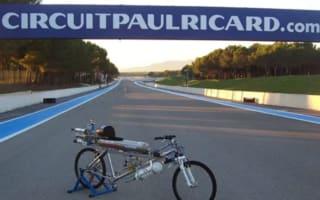Video: Rocket-propelled bicycle beats Ferrari in drag race