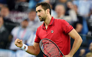 Cilic battles past Delbonis to give Croatia early advantage