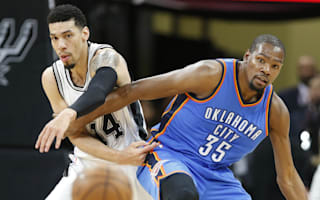 Thunder edge Spurs to level series, Cavs open with win