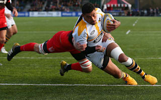 Saracens stunned by eight-try Wasps