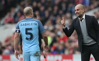 Guardiola lauds Zabaleta as Manchester City great