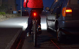 Laser gadget creates a virtual bike lane