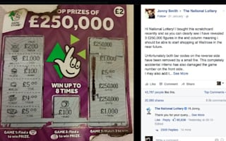 Spoof National Lottery claim for £250,000 goes viral