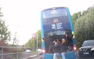 Teens disable double-decker bus in dangerous prank