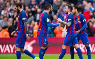 Barcelona 3 Athletic Bilbao 0: Alcacer ends long wait for LaLiga goal