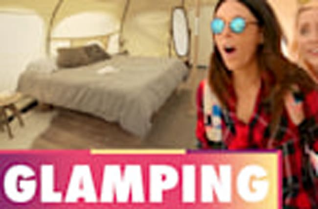 GLAMPING AT THE BEACH?! (Beauty Trippin)