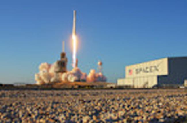 Launch of SpaceX Falcon 9 rocket with Inmarsat 5 F4 satellite