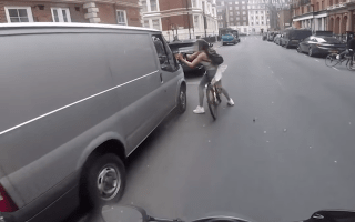 Female cyclist gets revenge on catcalling van driver