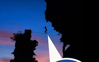 Climber completes 120ft-high tightrope walk NAKED