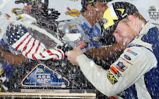 Buescher clinches first victory in fog-shortened Pocono race