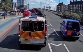 Police teach queue-jumping van a lesson