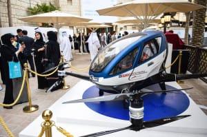 En Dubai ya tienen listo el dron-taxi que transporta personas