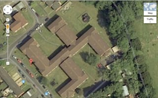 Council housing block shaped like swastika