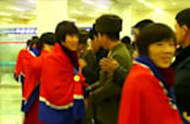 Women's U-20 World Cup champs welcomed in Pyongyang