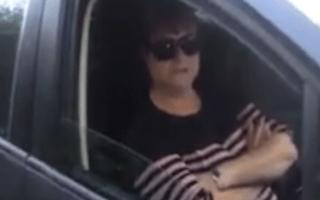Bizarre road rage incident descends into petty insults