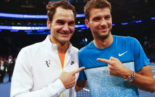 Roger Federer, Grigor Dimitrov and Tommy Haas team up as boy band