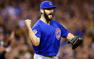 Arrieta unseats Bumgarner as NL's top-hitting pitcher