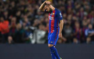 Alba admits frustration with Barcelona boss Luis Enrique