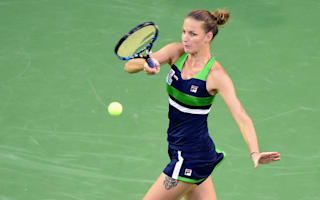 Pliskova reaches fourth round as Muguruza survives and Cibulkova rallies