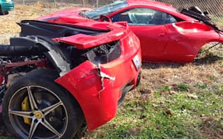 Ferrari 458 Italia splits in half after US crash