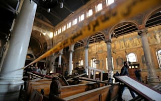 A bombing at Egypt's main Coptic Christian cathedral kills 25 people