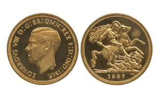 Why did royal British coin fetch a record £430,000?