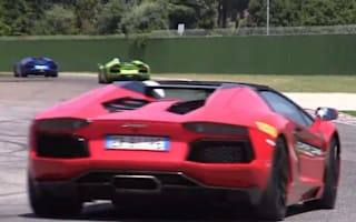 Video: A herd of Lamborghini Aventadors tears around Imola