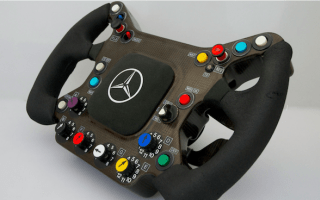 Raikkonen's old F1 steering wheel for sale