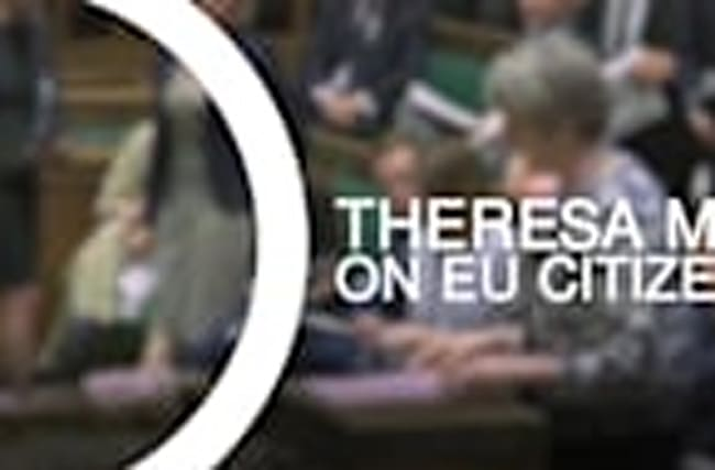 Theresa May on EU citizens